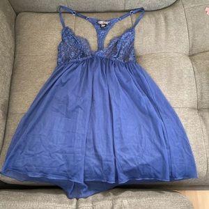 Victoria's Secret Sheer Blue Babydoll